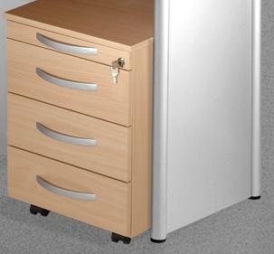 b ro rollcontainer f r anbautheke gu. Black Bedroom Furniture Sets. Home Design Ideas