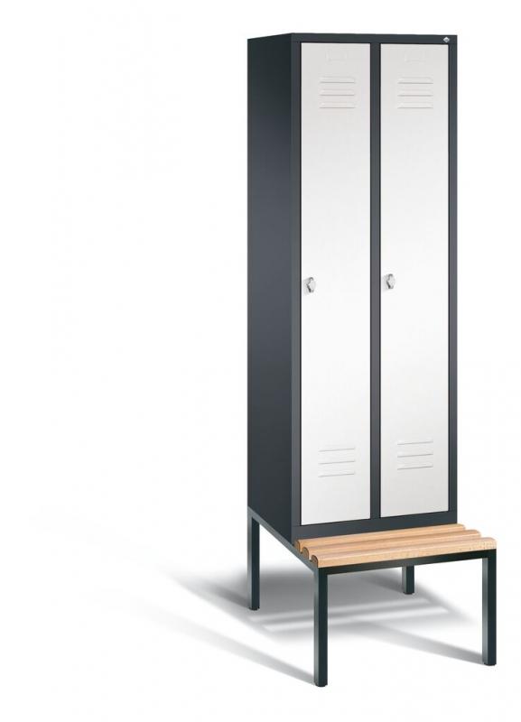 spind mit sitzbank umkleideschr nke. Black Bedroom Furniture Sets. Home Design Ideas