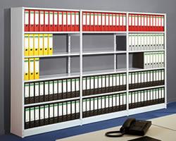 Büroregale ohne Rückwand