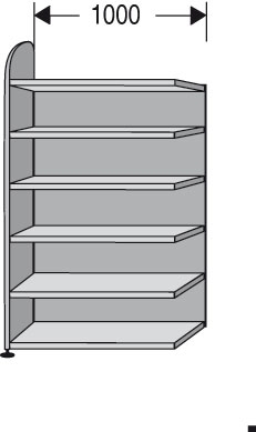 Ordnerregale Modell ,,DAM,, 1000mm breit
