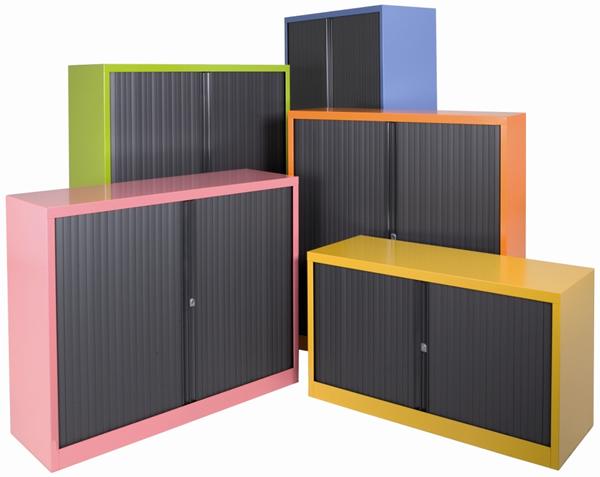 Büro Rollladenschränke für 3 1/2 Ordnerhöhen - Stahlschraenke.net