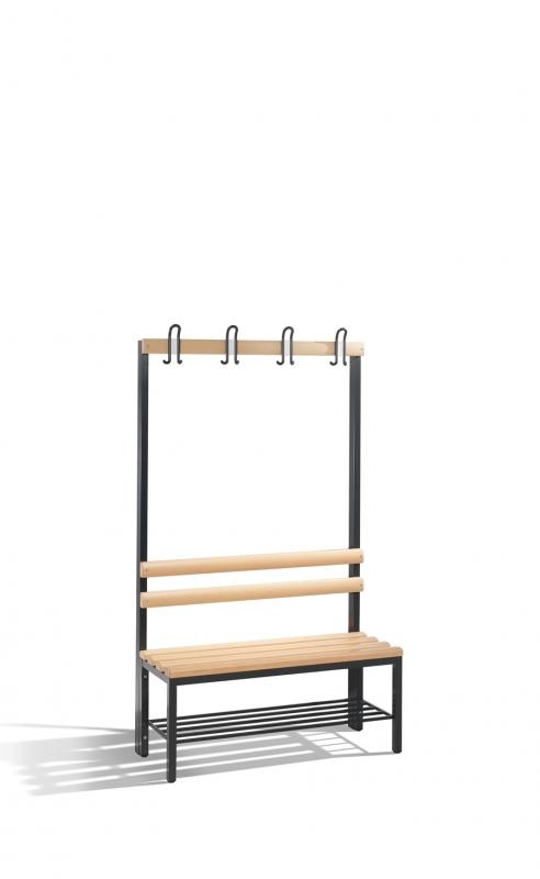 Umkleidebank Sitzbank einseitig mit Garderobenhaken Umkleide