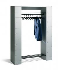 Garderobe mit Schließfachschränke Com1
