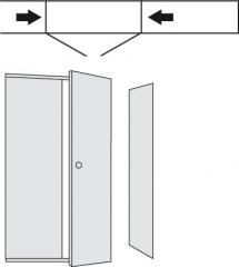 Türen-Anbausatz 1900x960mm+Anbw. für PR5 Regale
