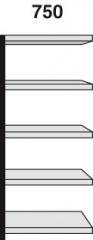 Magazinregale Modell ST Regalfeld 750 breit