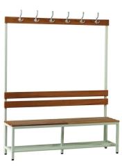 Umkleideraum Sitzbank mit Hakenleiste Classic